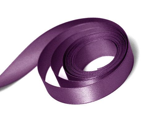 5 Yards Of Plum Double Faced Satin Ribbon by TutuOclockSomewhere
