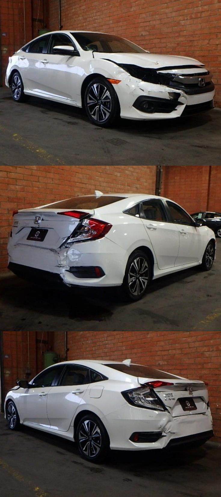 well equipped 2017 Honda Civic EX L repairable Honda