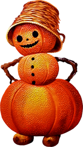 Free Victorian jack-o-lantern man Clipart   Halloween ...