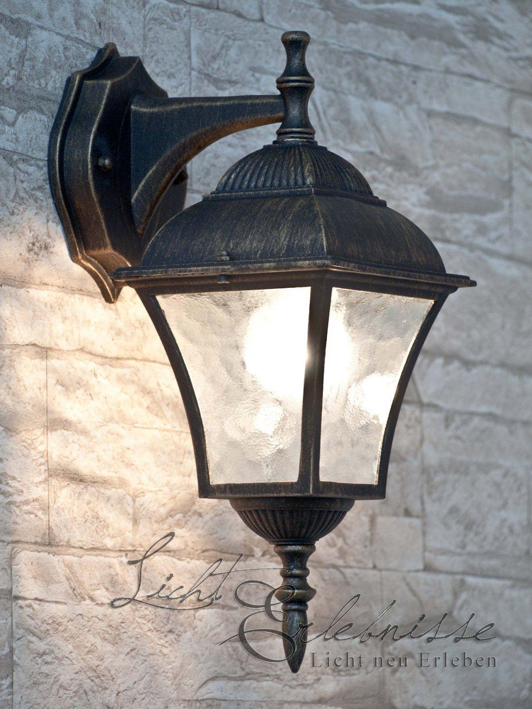 Antike Wand-Außenleuchte IP43 LE 2/1/871 aus Aluguss Außenlampe ...