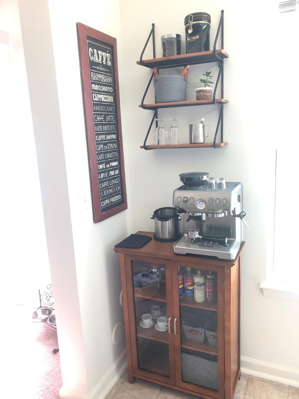 Breville Barista Express Espresso Machine Sur La Table Coffee Bar Home Home Coffee Stations Coffee Bar [ 1333 x 1000 Pixel ]