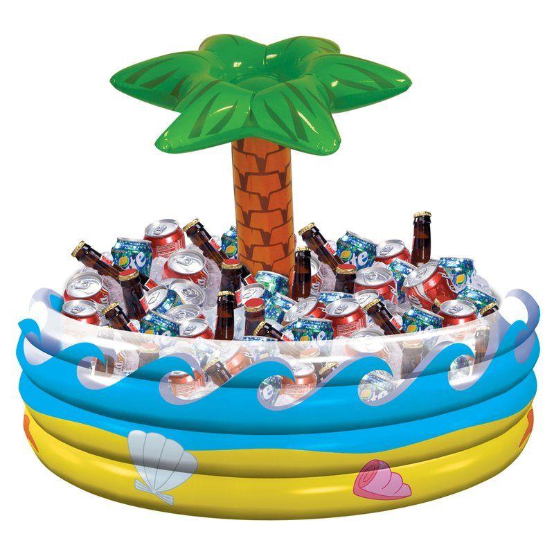 Summer Luau Tropical Palm Tree Inflatable Beverage Tub