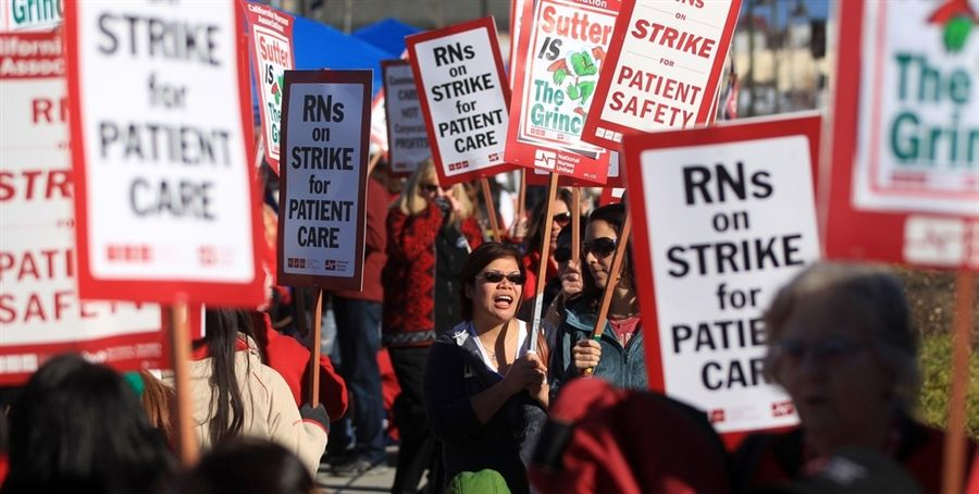 Nurses Participate In A One Day Strike At A Hospital In Burlingame Calif On December 22 2011 The Strike Affects 2 0 California Nurse Nurse Health Lifestyle