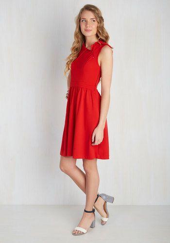 Trolley Tour Dress in Ruby | Mod Retro Vintage Dresses | ModCloth.com