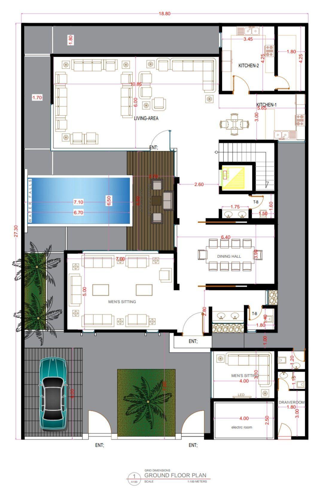 A R C H A B D U L K A D E R On Twitter Architectural Floor Plans Model House Plan Villa Plan