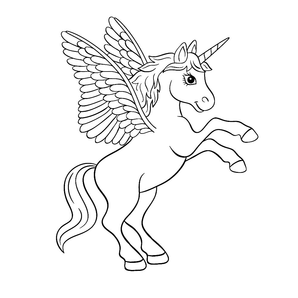 Kalishibai Unicorn Coloring Pages Unicorn Pictures To Color Horse Coloring Pages