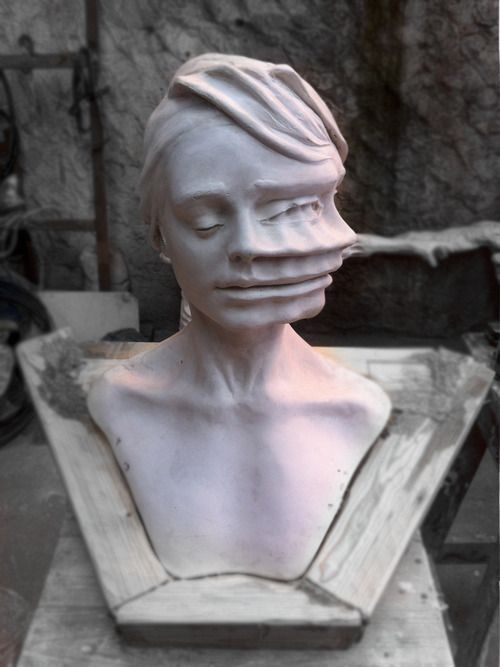 Juxtapoz Magazine - Sculptures by Enrico Ferrarini -  Sculptures by Enrico Ferrarini:  After five years of study at the Art Institute A. Venturi in Moden - #Enrico #Ferrarini #Juxtapoz #Magazine #Printmaking #Sculpture #Sculptures #WeddingPhotography