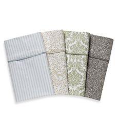wamsutta 400 thread count printed sheet set 100 cotton sateen bed bath - Wamsutta Sheets