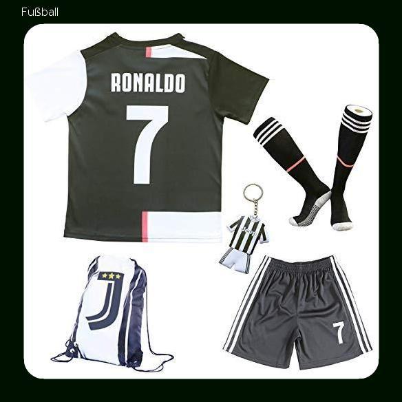 20192020 Juventus #7 Cristiano Ronaldo Heim Kinder Fußball