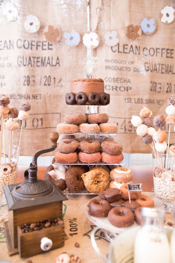 Coffee Donuts Diy Party Coffee Party Coffee And Donuts Coffee Themed Party