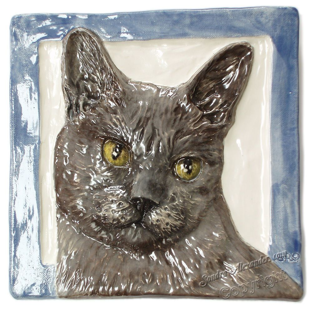 burmese cat sleeping art tile coaster gift modern artwork