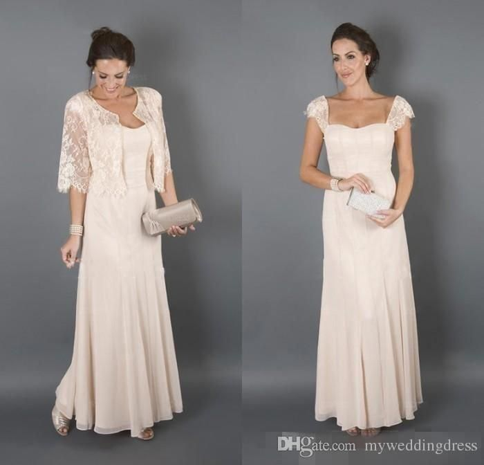 1fc3a3adf8c 2017 Sexy Mother Of The Bride Dresses With Jackets Short Sleeves Lace  Chiffon Plus Size Groom Suits Evening Party Dress Wedding Guest Gowns Mother  Of The ...