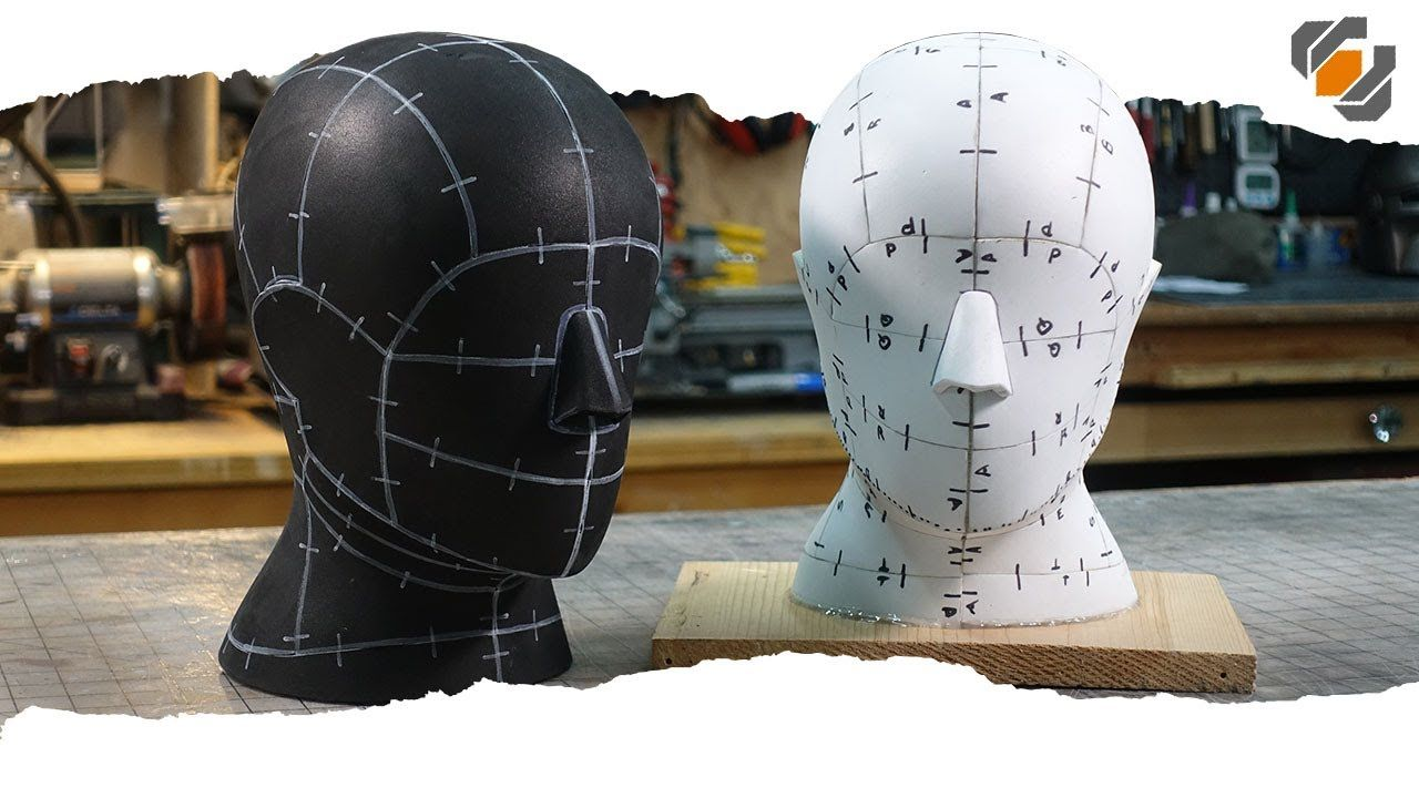 Head formhelmet stand digital pattern for eva foam