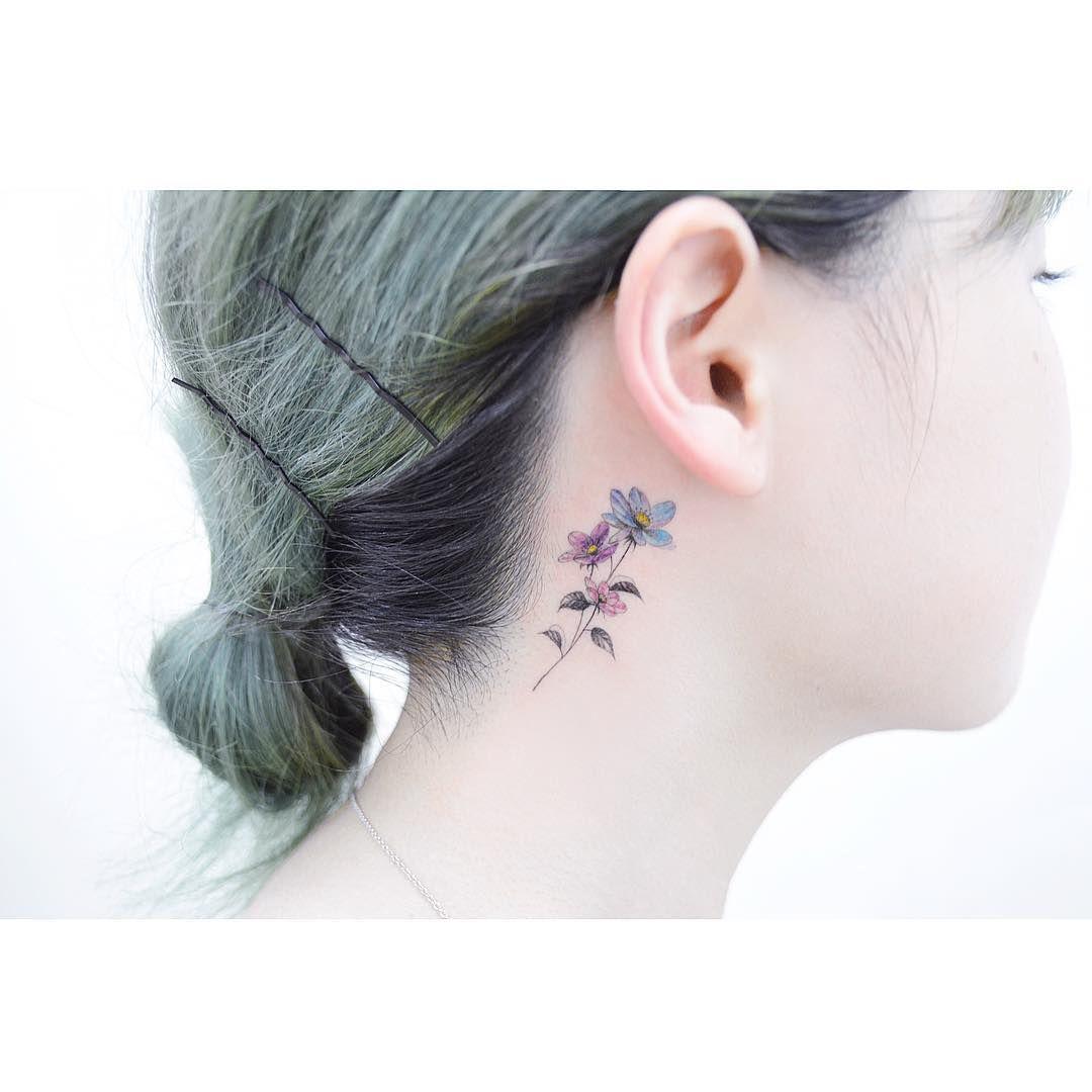 Watercolor Tattoos Korean Style Anemone Tattoo Beautiful Tattoos Tattoos