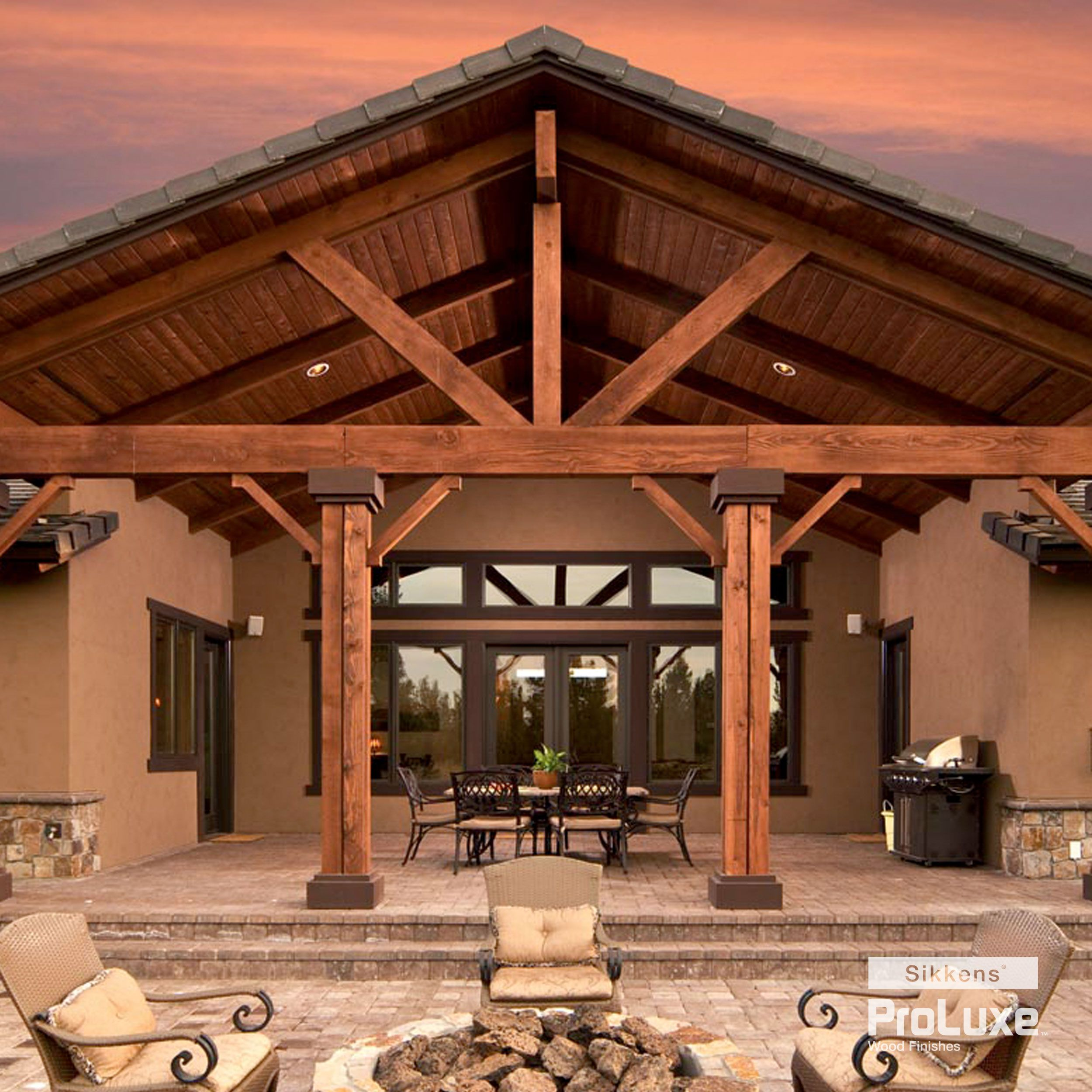 Breathtaking Lanai At Sunset Wood Finished With Sikkens