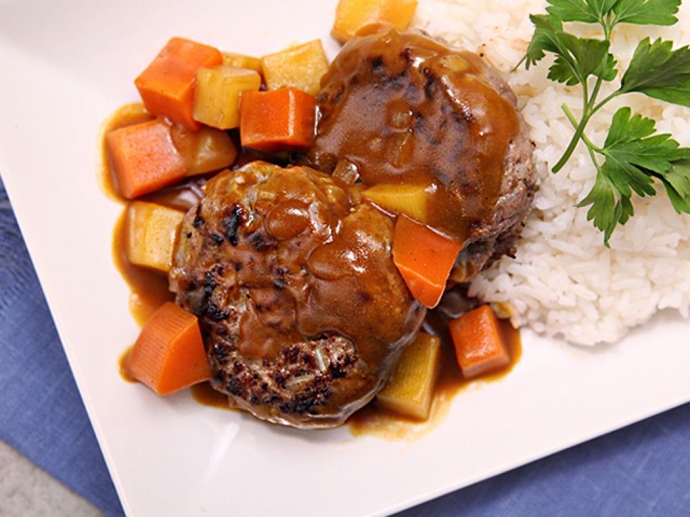 日式咖喱漢堡扒 Japanese Curry Hawaiian Food Beef Burger