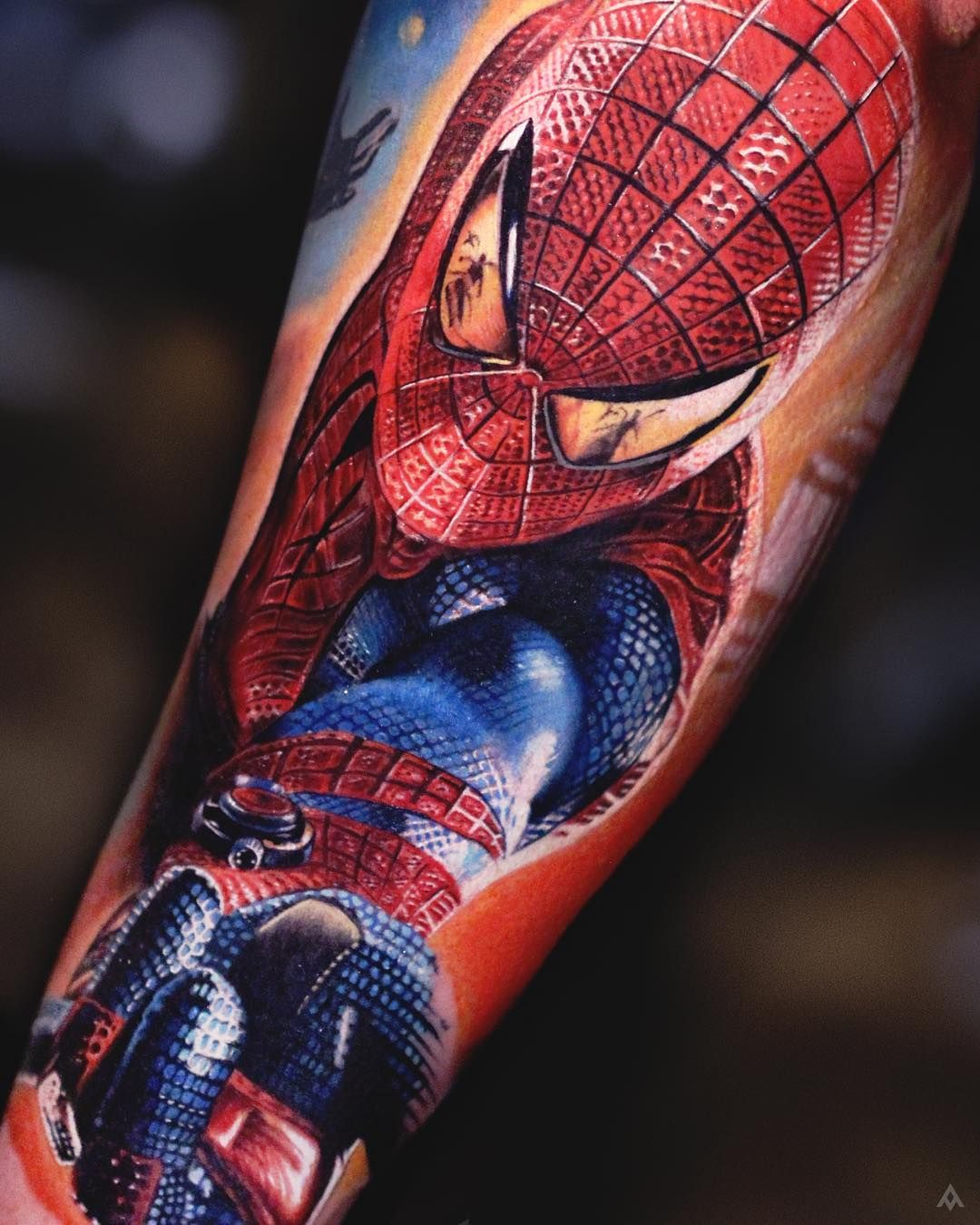 4 335 likes 71 comments luka lajoie lukalajoie on for Spiderman tattoo arm