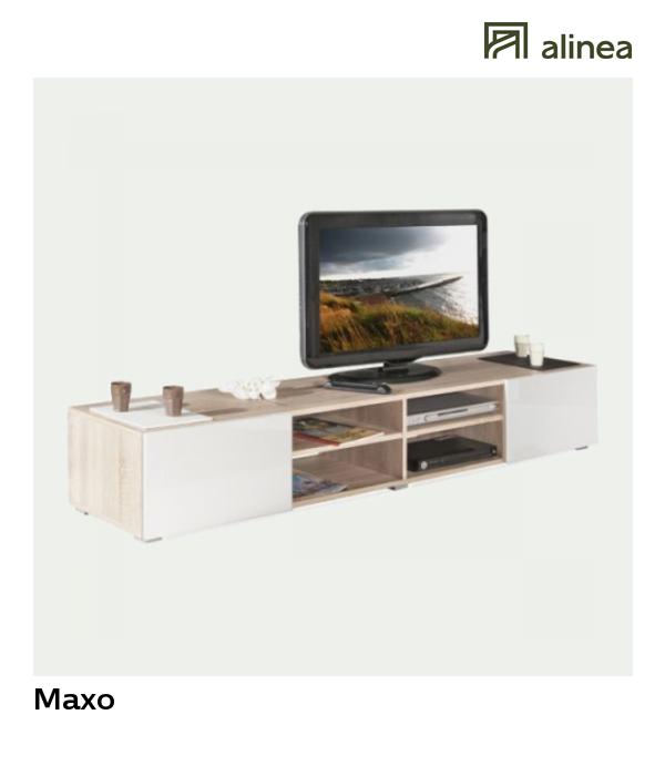 tv alinea meuble tv blanc