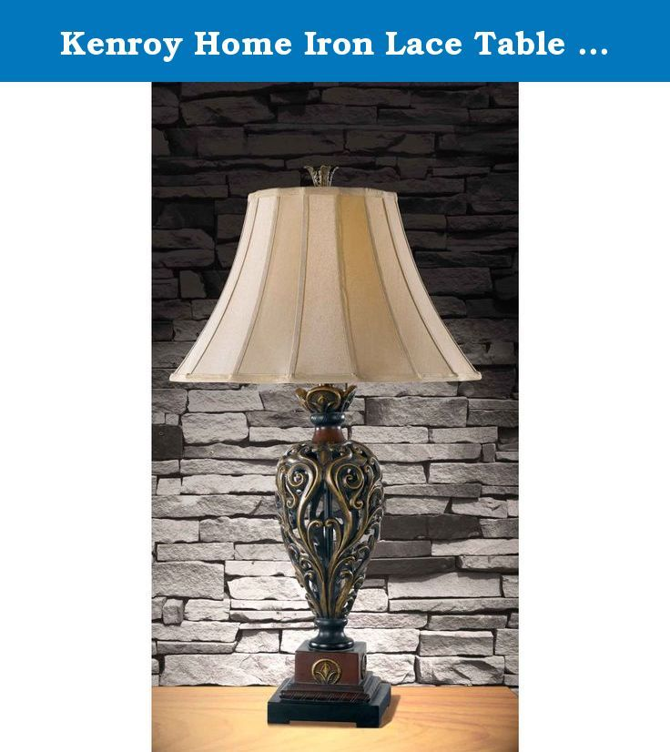 Kenroy Home Iron Lace Table Lamp With 18 Inch Diameter Light Gold Shade The Is A Great To Accent Your Living Room Bedroom Or Den