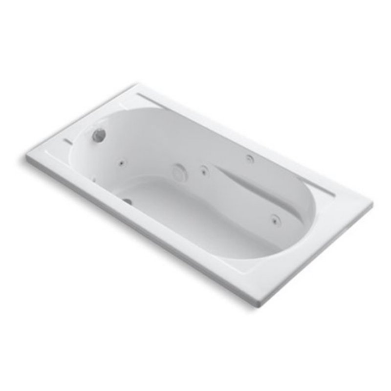 Kohler Devonshire 60 In Drop In Whirlpool Tub With Reversible Drain Bathtub Jetted Bath Tubs Whirlpool Bath