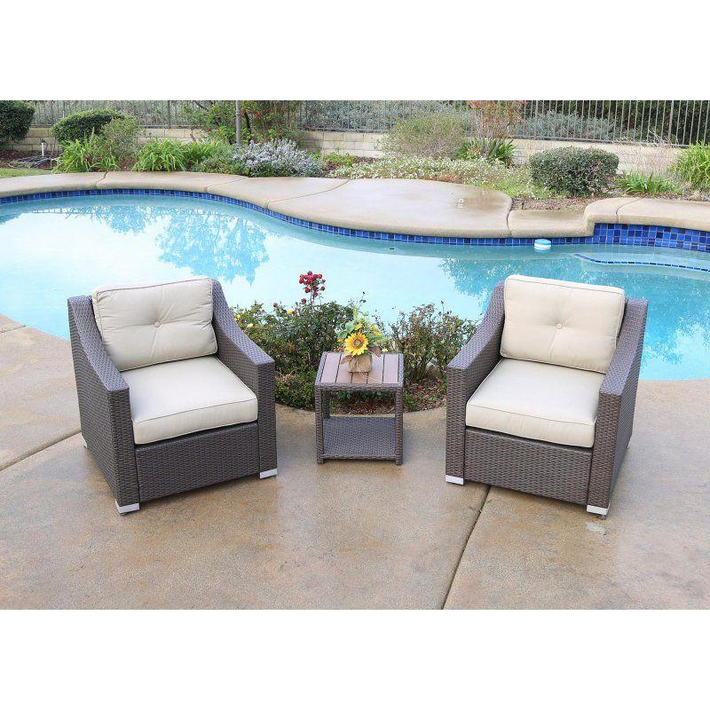 Outdoor Jj Designs South Beach Wicker 3 Piece Deep Seating Patio