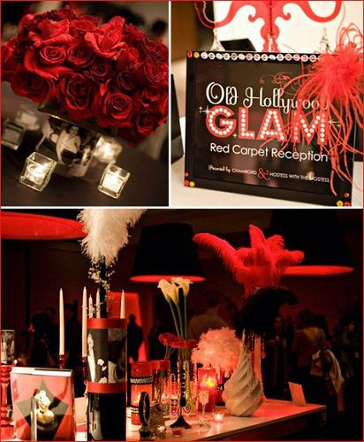 Make Your Party An Old Hollywood Glam Party Oscar Party Ideas