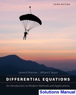 Differential Equations An Introduction To Modern Methods And
