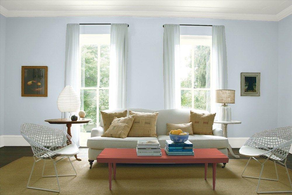 living room 2 walls benjamin moore benjamin moore. Black Bedroom Furniture Sets. Home Design Ideas