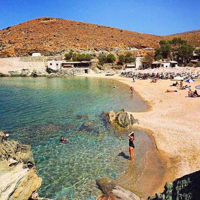Wonderful Kolympithra beach , at Tinos island (Τήνος) ☀️. Actually , it consists of two beautiful beaches .  one
