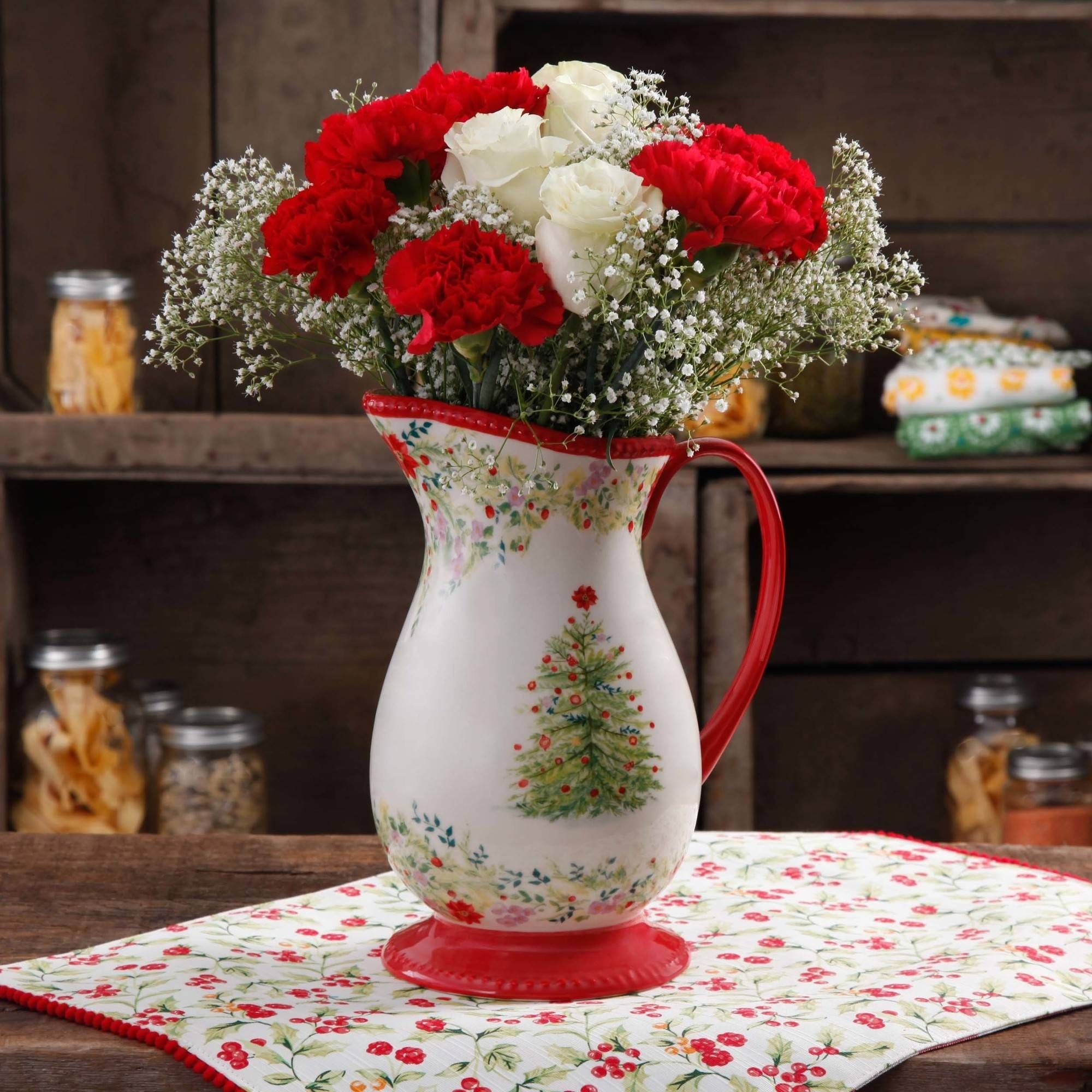 the pioneer woman holiday cheer pitcher 2 qt