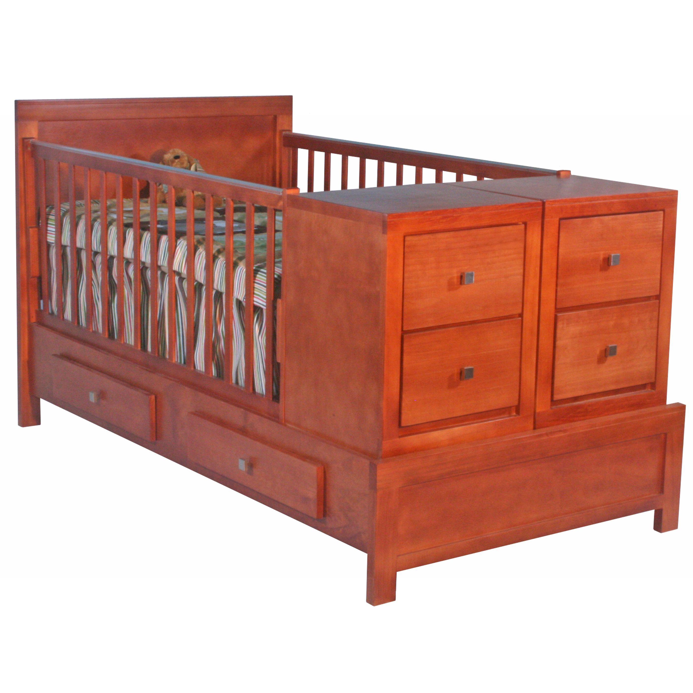 Cama cuna contemporanea caoba bebeshop cunas de for Cunas para bebes de madera
