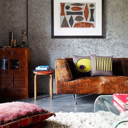 Midcentury style living room. Click the photo or go to redonline.co.uk.