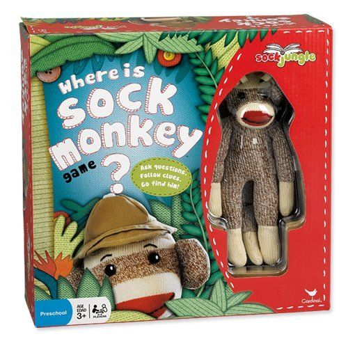 Where Is Sock Monkey Board Game By Cardinal Industries Http Www