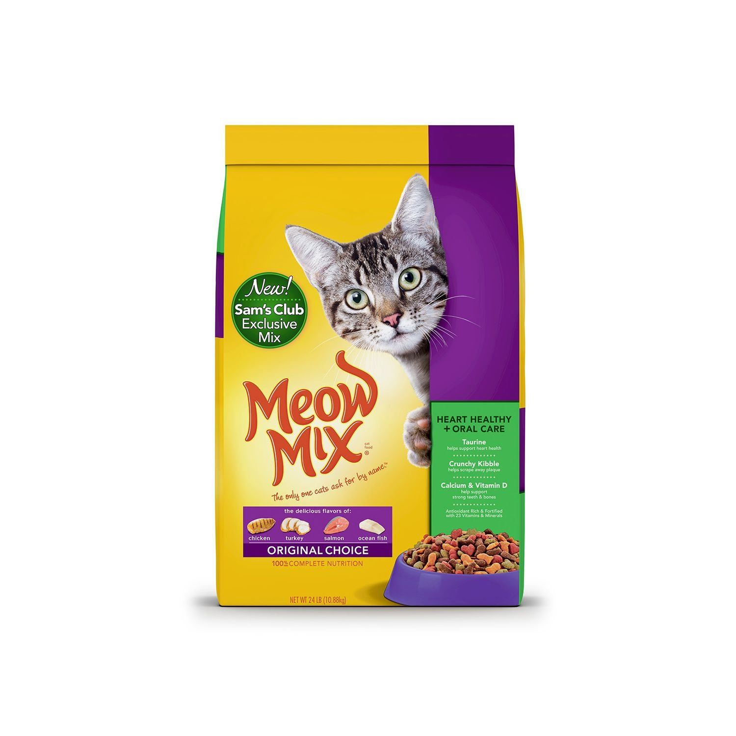 Meow Mix Original Choice Dry Cat Food, Heart Health and