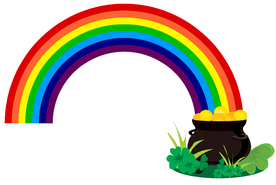 rainbow-with-pot-of-gold-clipart-black-and-white-jixzM9xiE.png (1058 ...