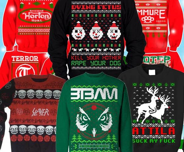 Heavy Metal Ugly Christmas Sweaters Have Officially Jumped The Shark
