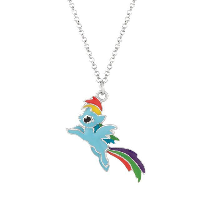 Fine silver plated rainbow dash my little pony pendant necklace fine silver plated rainbow dash my little pony pendant necklace blue size 18 inch rainbow dash pony and rainbows aloadofball Gallery