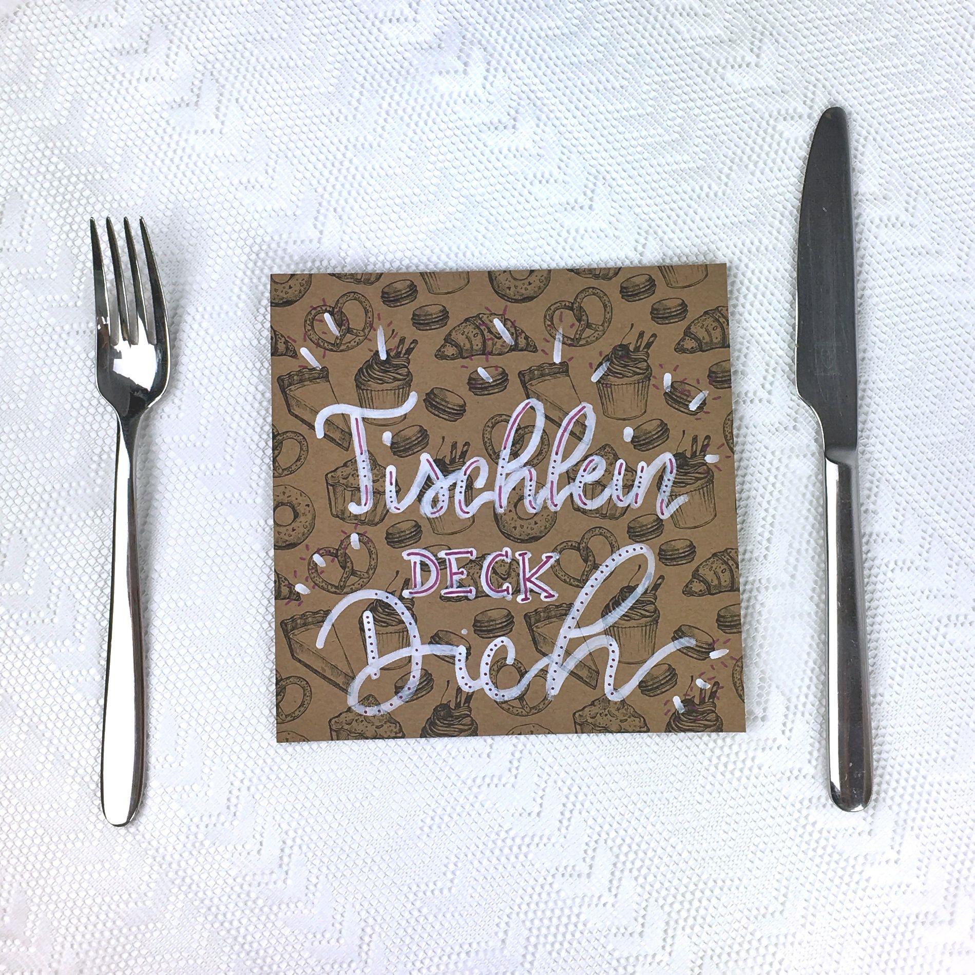 Ausgefallene Tischlen lettering tischlein deck dich einfach lilienhaft letterings