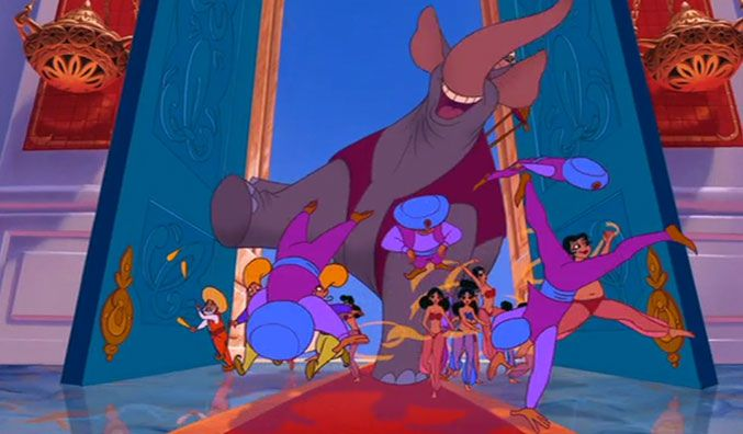 Image result for aladdin 1992 prince ali enters the palace