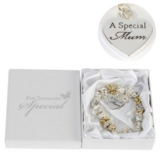 Juliana Gold Silver Charm Bracelet with Special Mum - This Special Mum Charm Bracelet makes a wonderful thoughtful gift for your fabulous Mum, which is just perfect for any occasion.