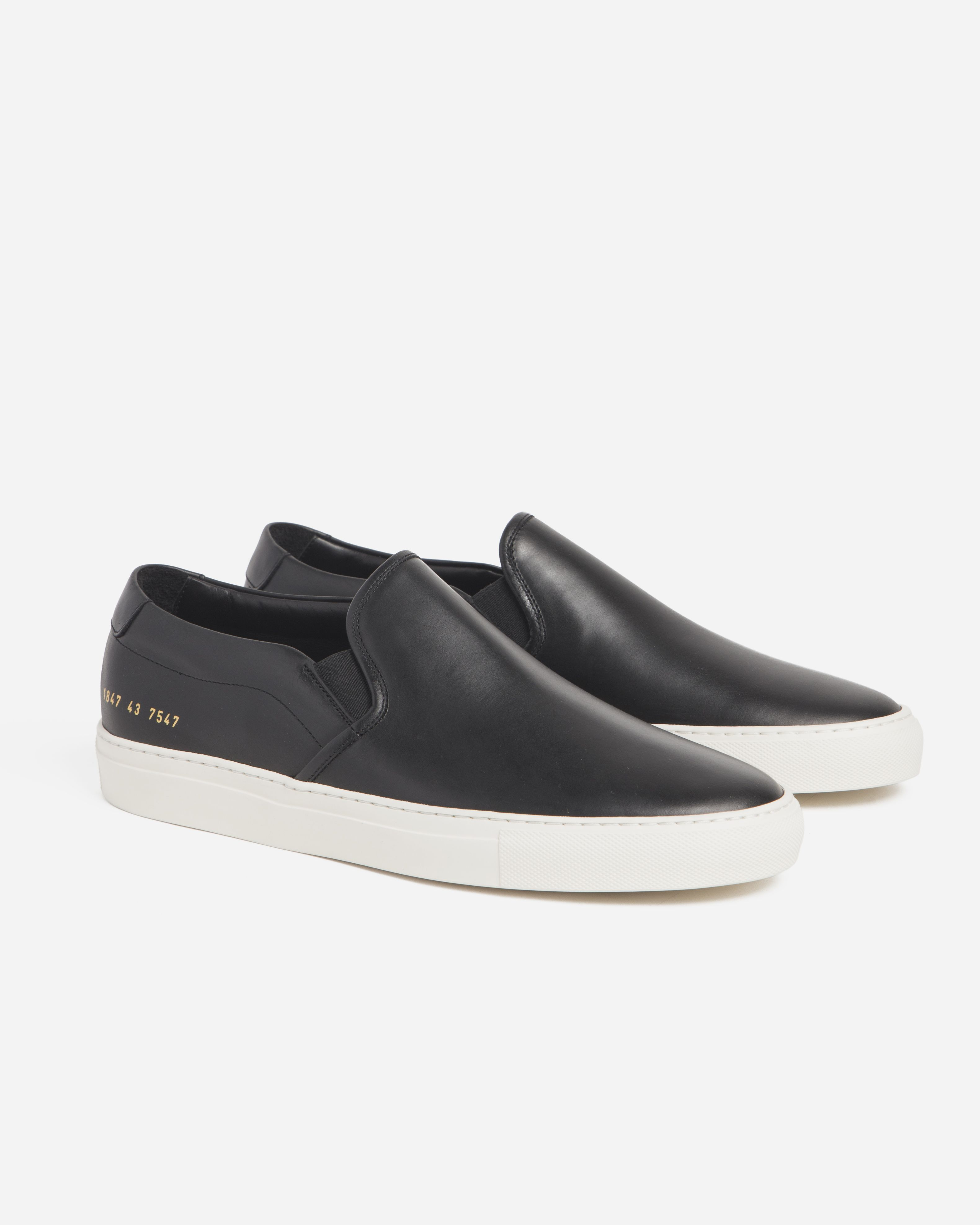 dc0b896a646c9 Common Projects Leather Slip-On - Black