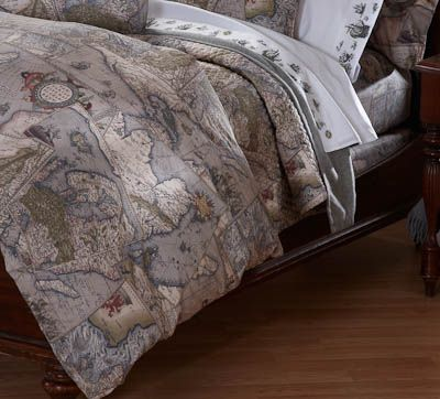 Cotton percale antique map duvet cover for the home pinterest cotton percale antique map duvet cover gumiabroncs Gallery