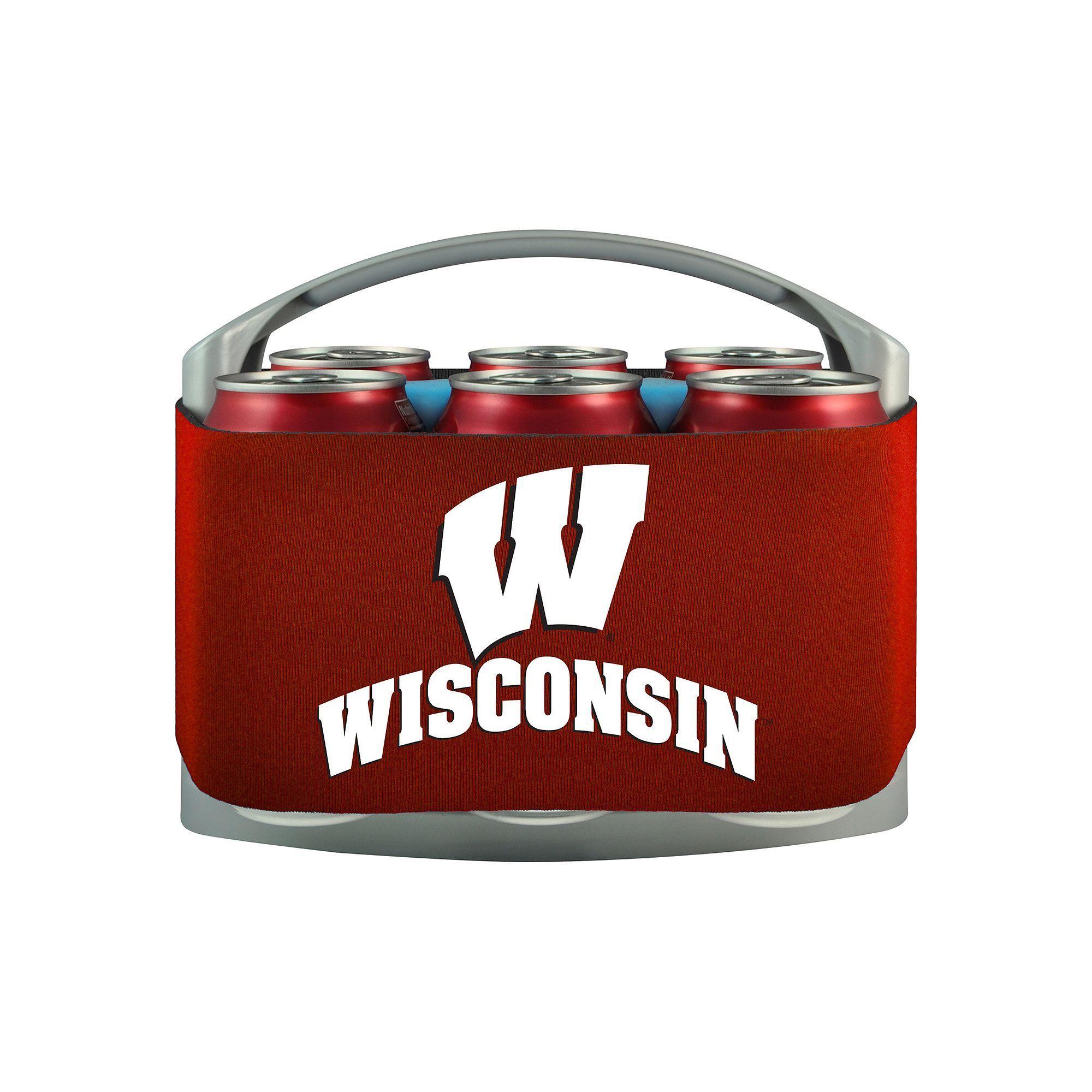 Wisconsin Badgers 6-Pack Cooler Holder, Multicolor