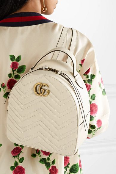 2d2d4510d44c Gucci - GG Marmont quilted leather backpack | Style pt 4 | Leather ...