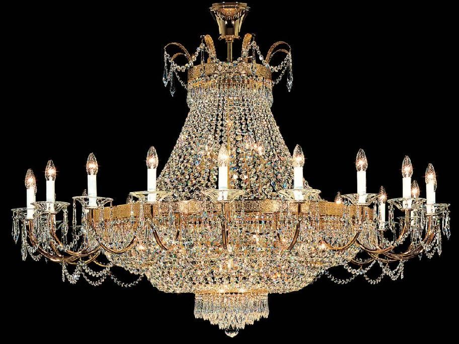 The Kolarz Empire Magnificent, Opulent Crystal Chandelier Is In A 24 Carat  Gold Finish Dressed With Dazzling Swarovski Crystal.