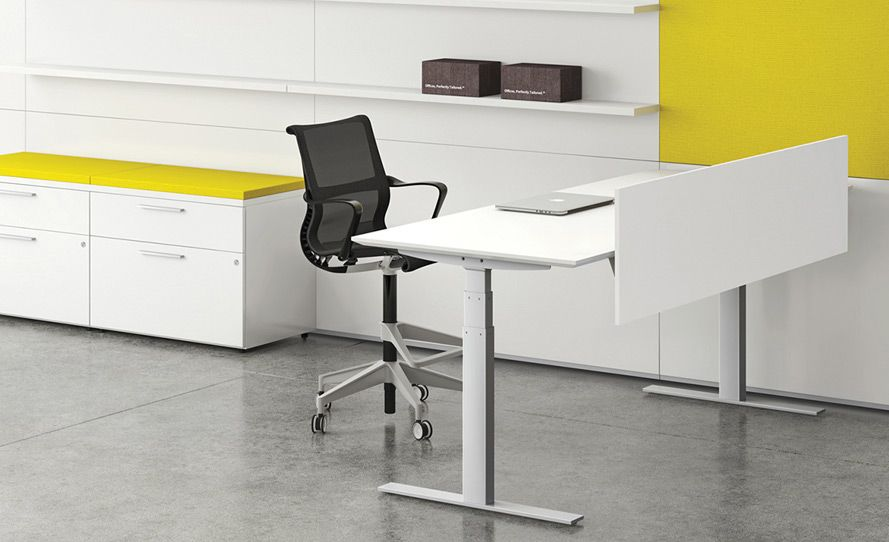 Height adjustable stand up at work with ergonomic standing desks