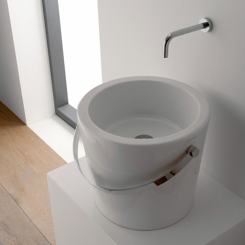 Scarabeo Bucket Aufsatzwaschbecken Weiss 8803 Aufsatzwaschbecken Waschbecken Badezimmer Waschbecken