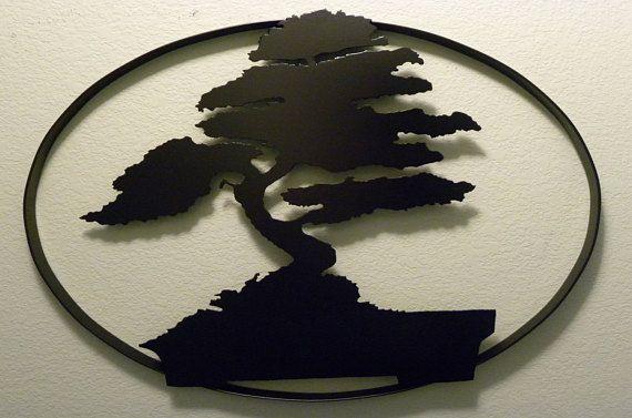 Oval Bonsai Tree Of Life Metal Tree Metal Tree Wall Art