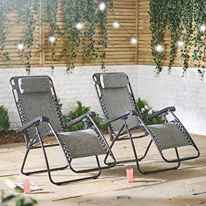 Textoline Zero Gravity Chairs Reclining Sun Lounger Sun