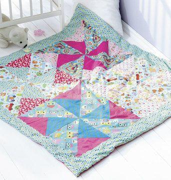 Decke für Babys - Schnittmuster und Nähanleitung via Makerist.de ...